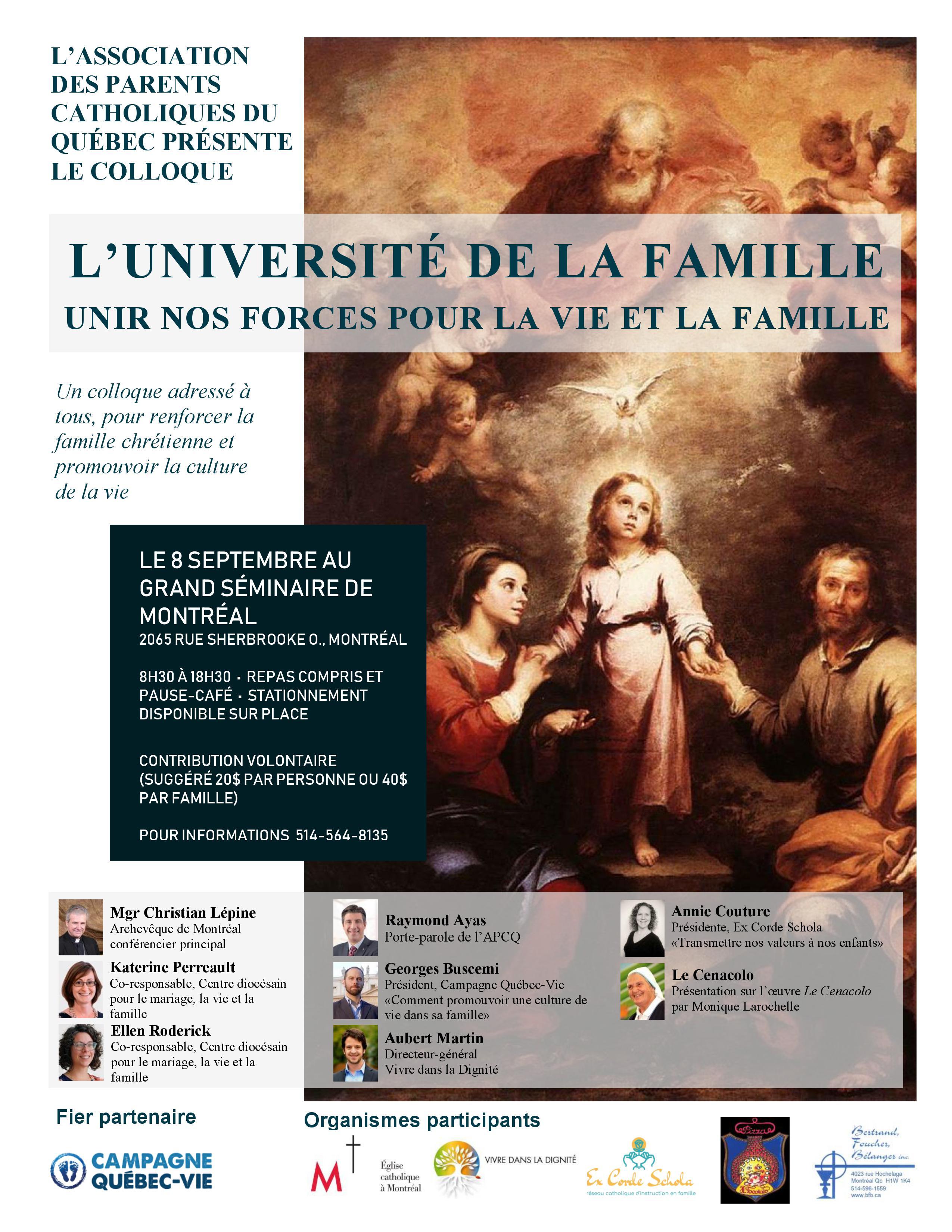Université de la famille 2018 - Ex Corde Schola