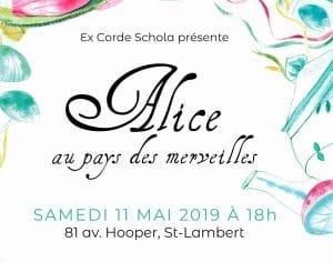 ECS 2019 Spectacle de fin d'année Alice au pays des merveilles copyright excordeschola.ca