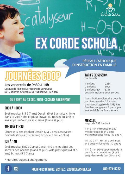 Ex Corde Schola 2019-2020 Automne